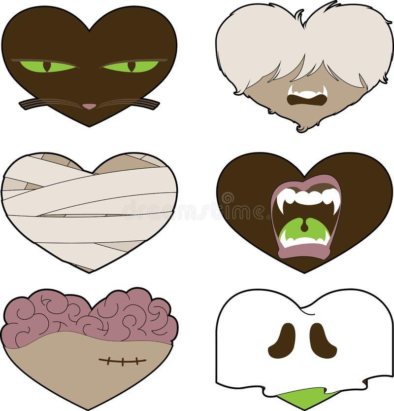 Mim coração Halloween ilustração do vetor