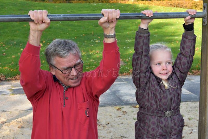 Mim e Grandpa imagem de stock royalty free