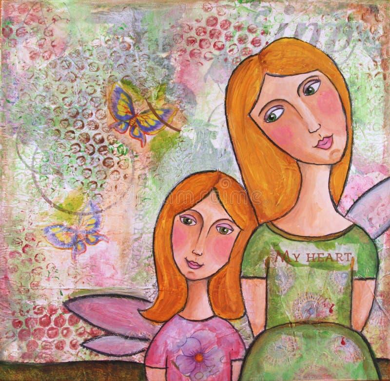 MIM E MAMA ilustração stock