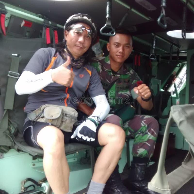 Mim e soldado imagem de stock royalty free