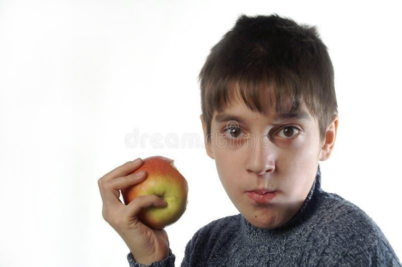 Mim e uma maçã imagens de stock royalty free