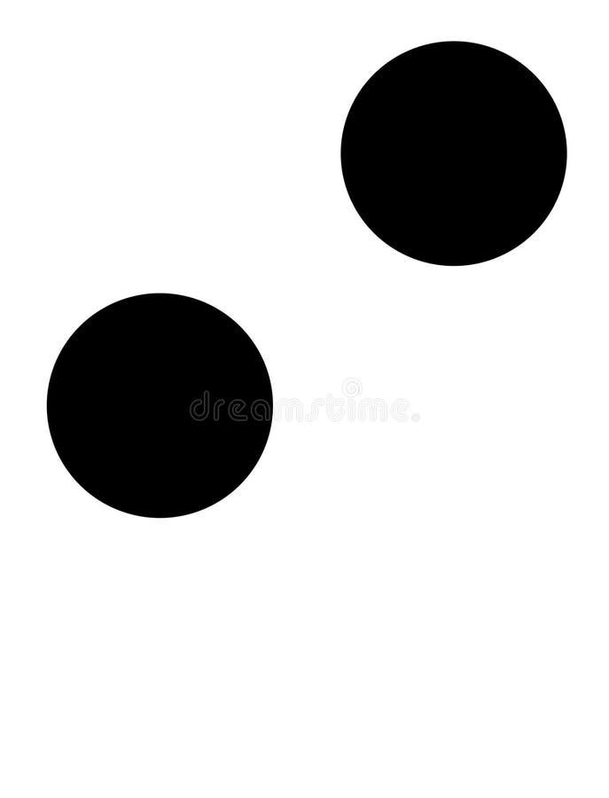 Mim em braille ilustração do vetor