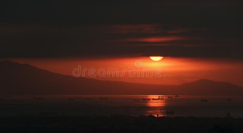 Mim fogo do mar foto de stock