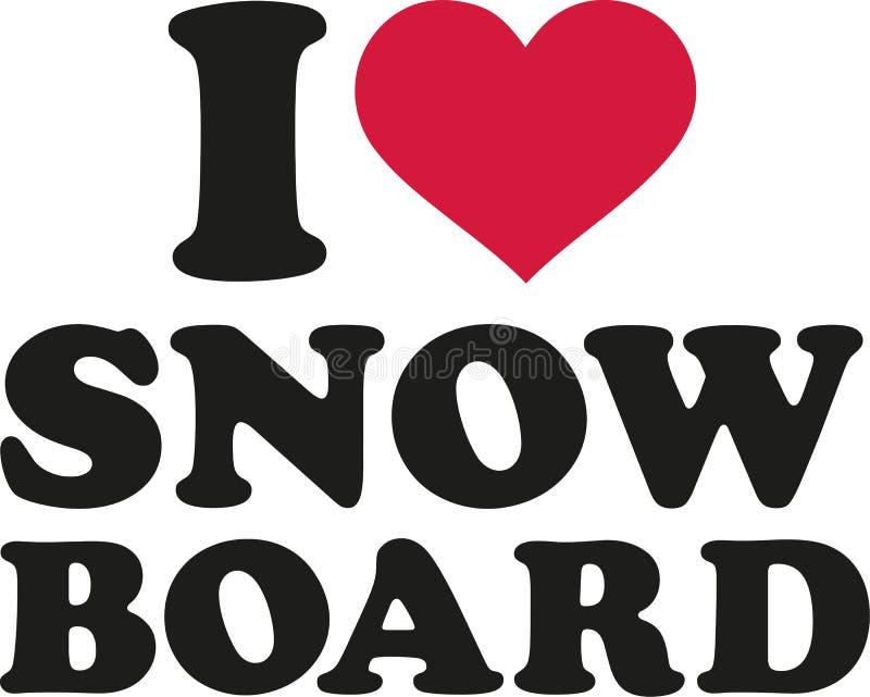 Mim snowboard do coração ilustração do vetor