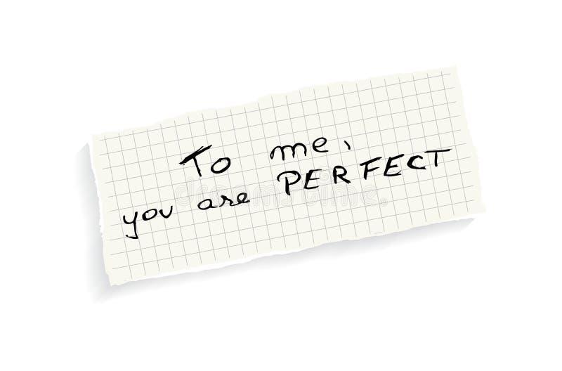 A mim, você é perfeito! ilustração royalty free