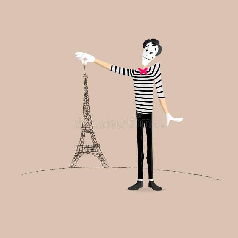 Mima występ ilustracji