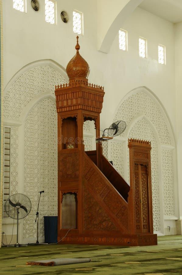 Mimbar al meczet w Kedah zdjęcie royalty free