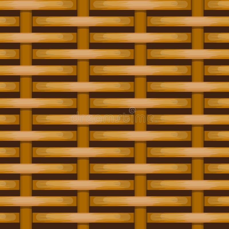 Mimbre tejido Brown para el uso como fondo ilustración del vector