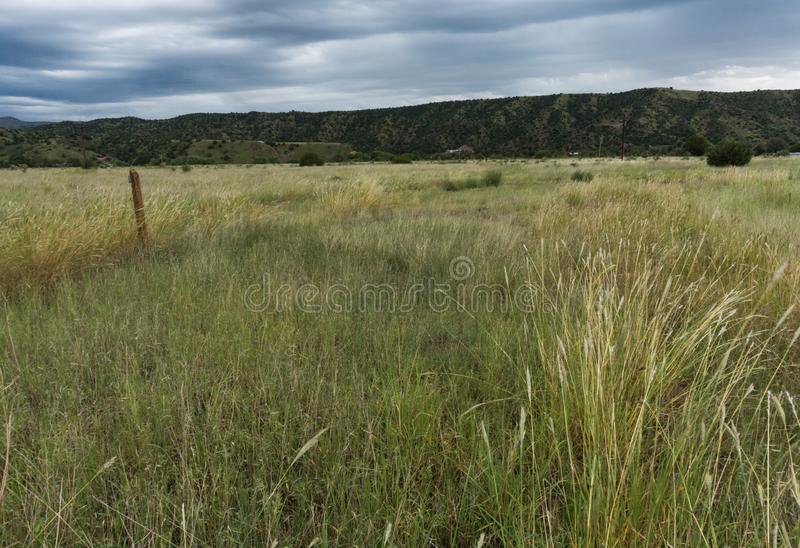 Mimbres valley view in New Mexico. A Mimbres Valley view along the Mountain Spirits Scenic Byway in New Mexico stock photo