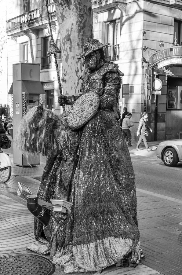 Mime στη Βαρκελώνη στοκ φωτογραφίες με δικαίωμα ελεύθερης χρήσης