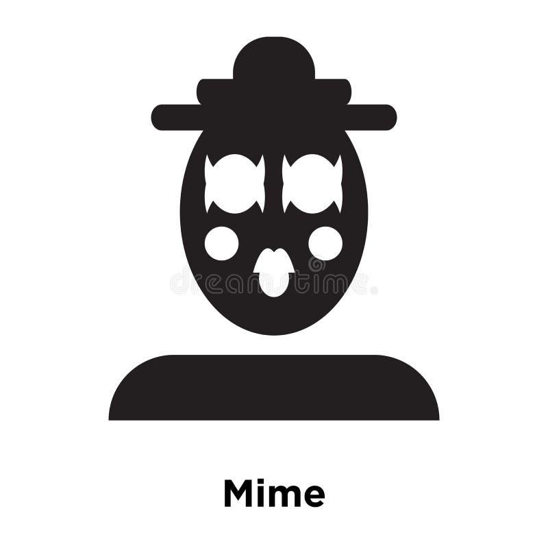 Mime вектор значка изолированный на белой предпосылке, концепции логотипа m бесплатная иллюстрация