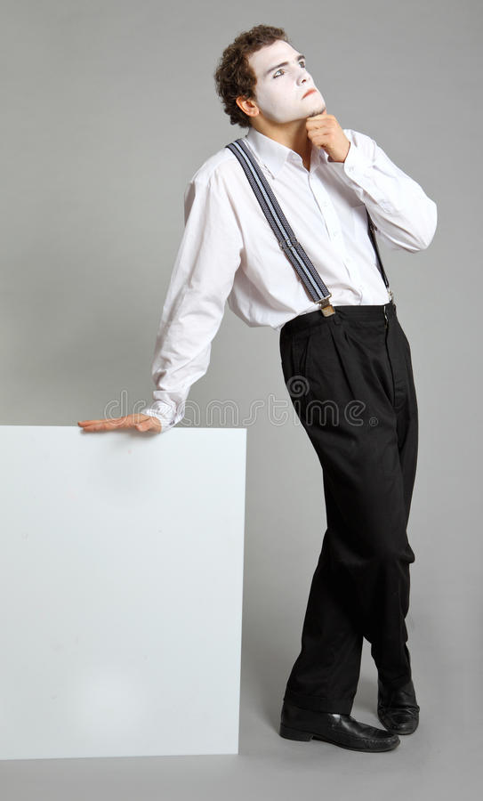 Mime. And virtual promotion board royalty free stock photos