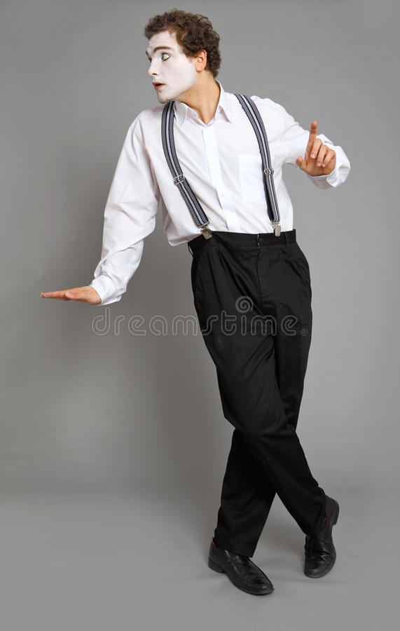 Mime. And virtual promotion board royalty free stock image