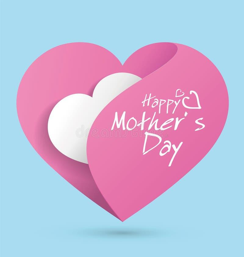 Mime al diseño gráfico en forma de corazón Día-temático del ` s, amor de madre libre illustration