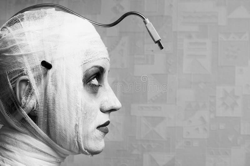 Mime femenino fantasmagórico fotografía de archivo libre de regalías