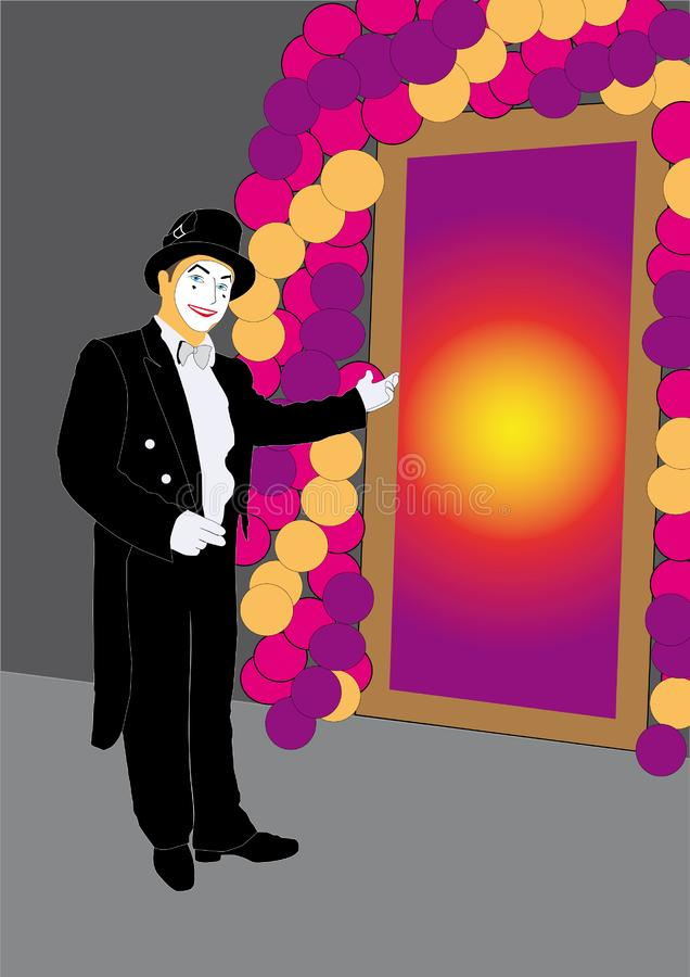 Download Mime Invites At Mysterious Door Stock Vector - Illustration: 7986769