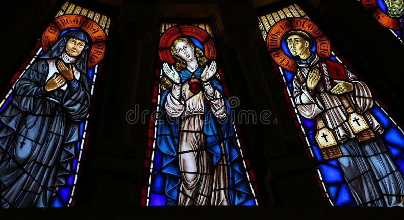 Download Mime A Maria Y A Dos Santos Católicos - Vitral Foto de archivo - Imagen de d0, religión: 44858448