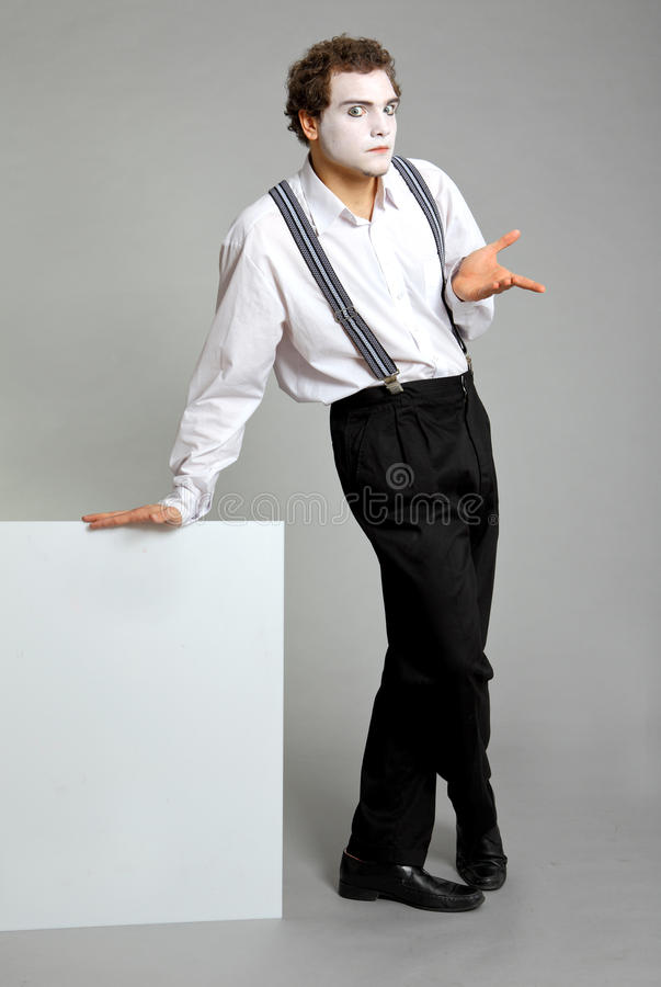 Download Mime and promotion board stock photo. Image of cool, adult - 10135466