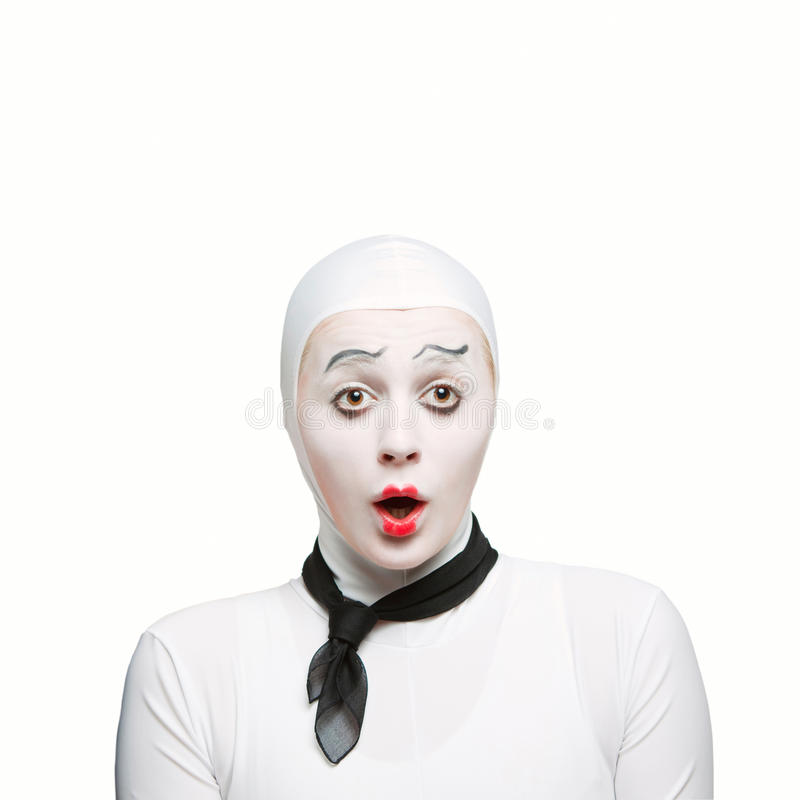 Mime surpreendido foto de stock
