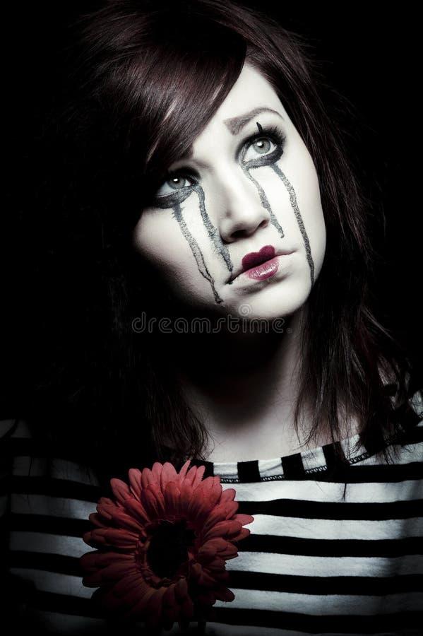 Mime triste fotos de archivo