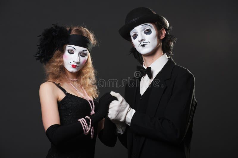 mimes πορτρέτο στοκ εικόνες με δικαίωμα ελεύθερης χρήσης