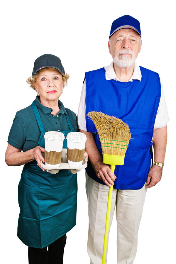 Mimimum Wage Workers royalty free stock photo