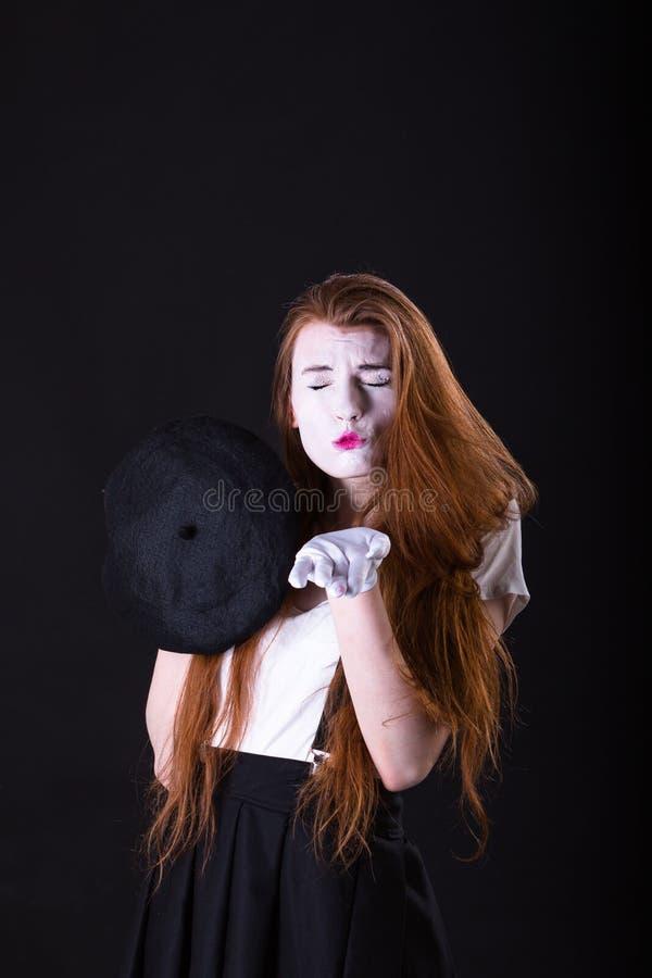 Mimo Girl Sending un bacio fotografie stock libere da diritti