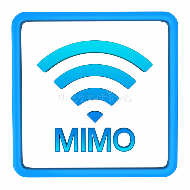MIMO Sign, 3d Royalty Free Stock Photography
