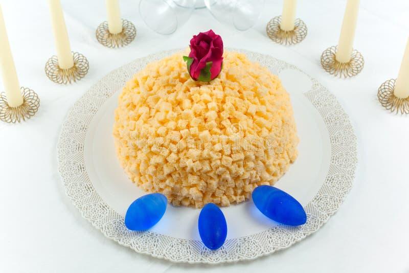 Download Mimosa Cake stock image. Image of baking, mimosa, rose - 13945477