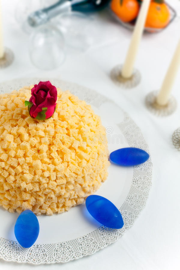 Download Mimosa Cake stock image. Image of delicious, unhealthy - 13945553