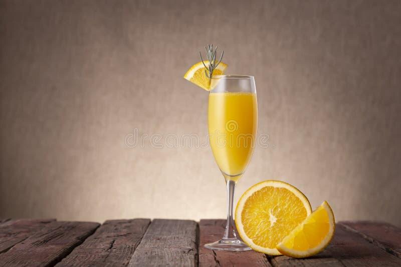 Mimosa cocktail royalty free stock photos
