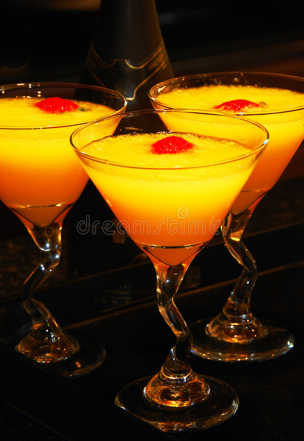 Mimosa Cocktail Drinks royalty free stock image