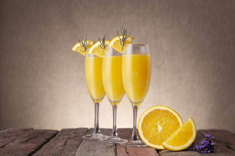 Mimosa Cocktails stock photo