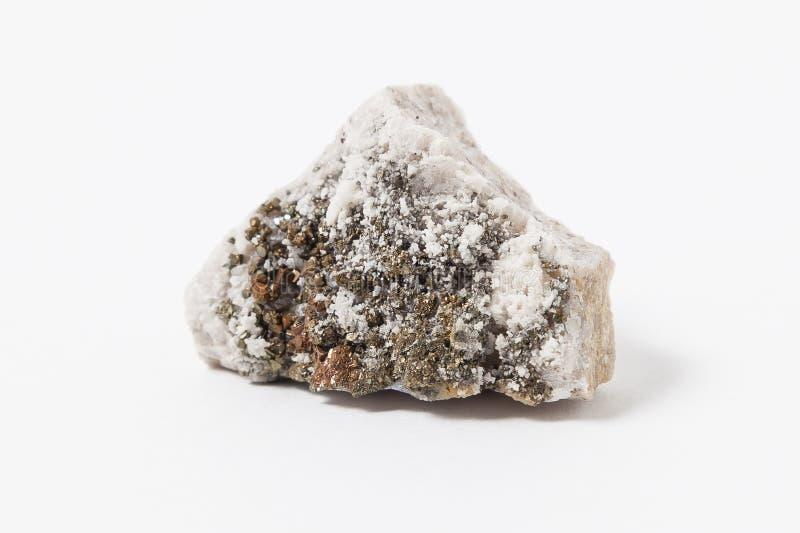 Minério da dolomite em um fundo branco fotos de stock