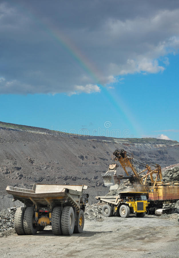 Minério de ferro opencast foto de stock