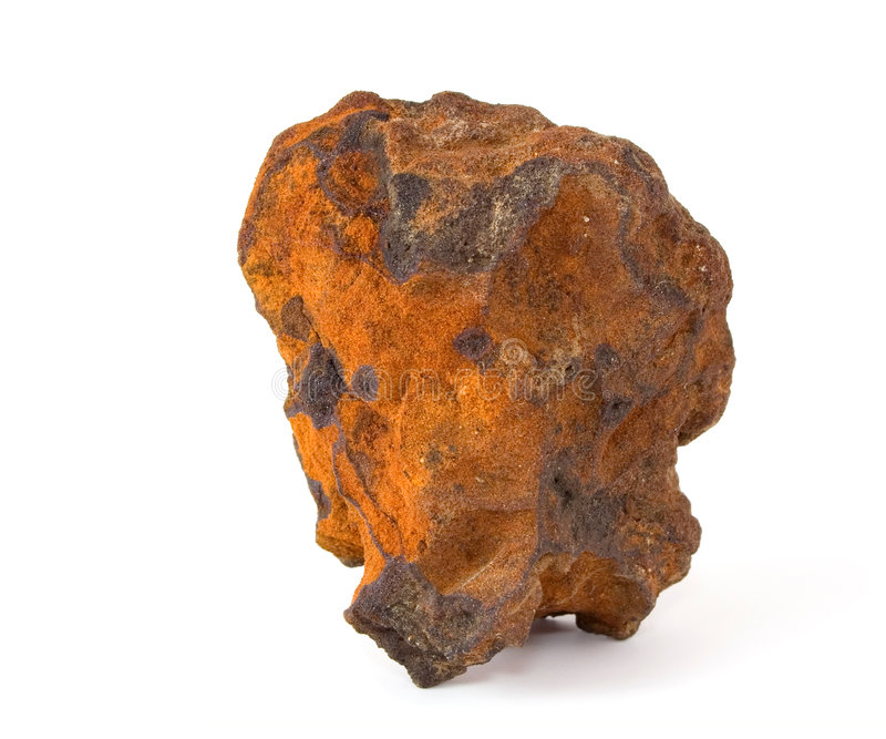 Minério de ferro (sandstone ferriferous) fotos de stock