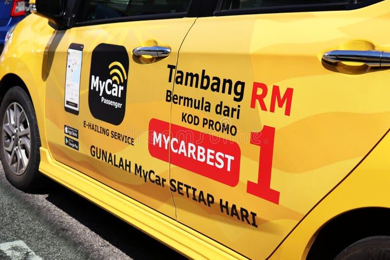 Min bil-e-hailing Promotion på bilsidan royaltyfria bilder
