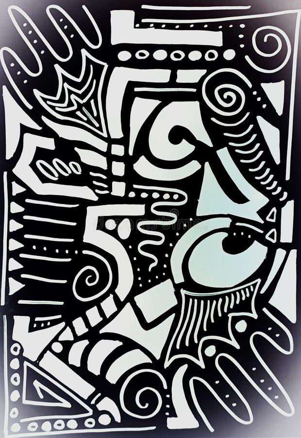 Min egen version av stam- teckningar vektor illustrationer
