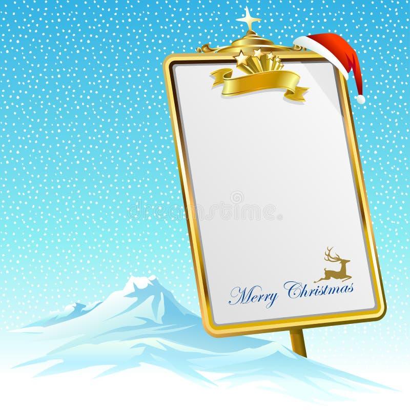 Min Gåva-lista för Santa Claus stock illustrationer
