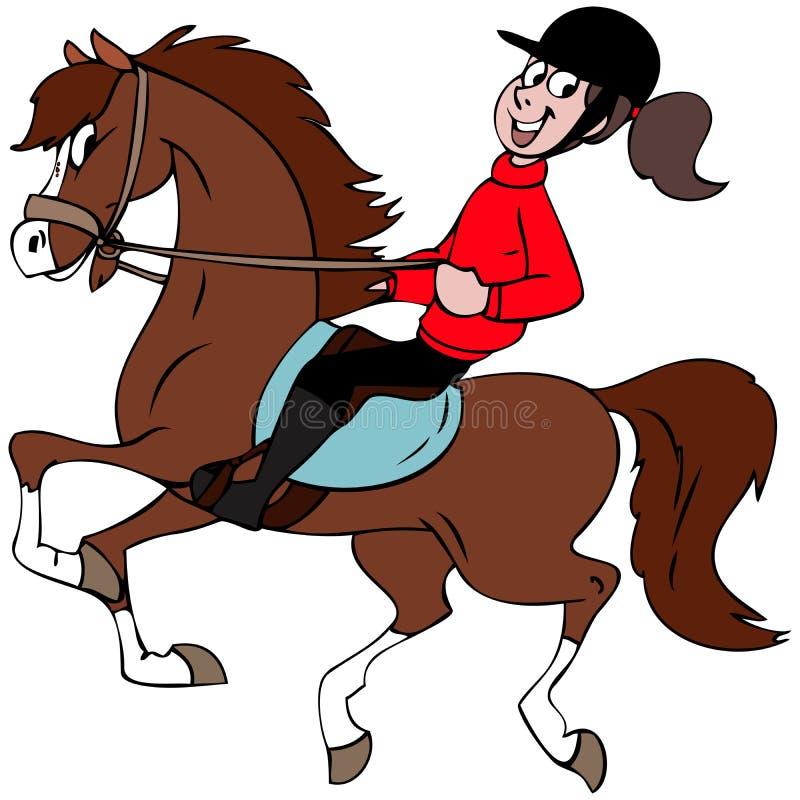 min häst stock illustrationer