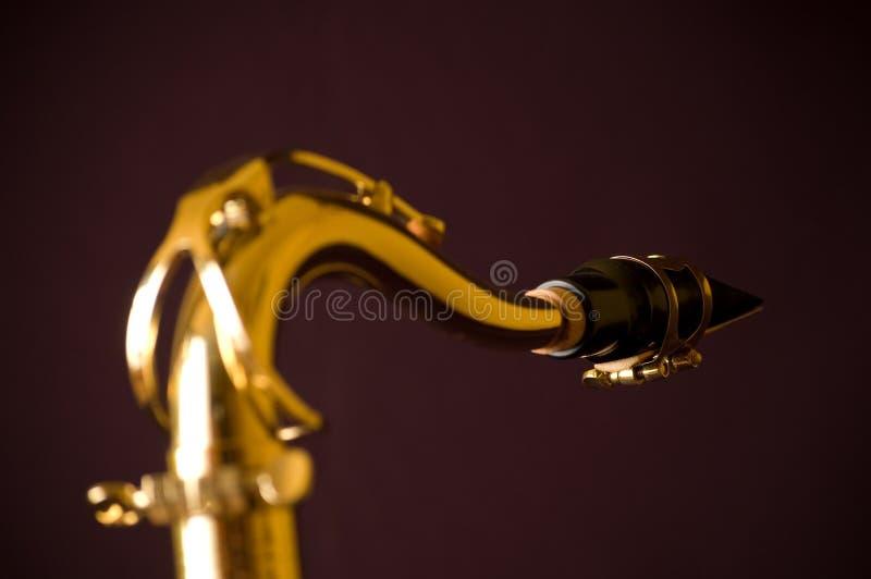 min halssaxofon royaltyfria bilder