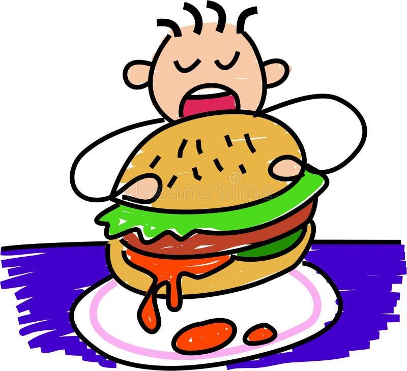 min hamburgare stock illustrationer