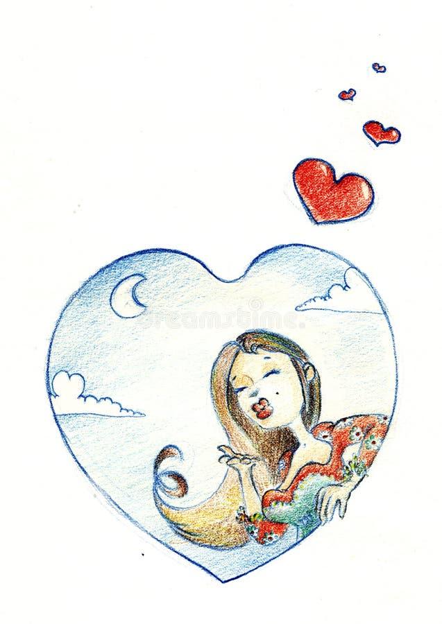 min hjärta stock illustrationer