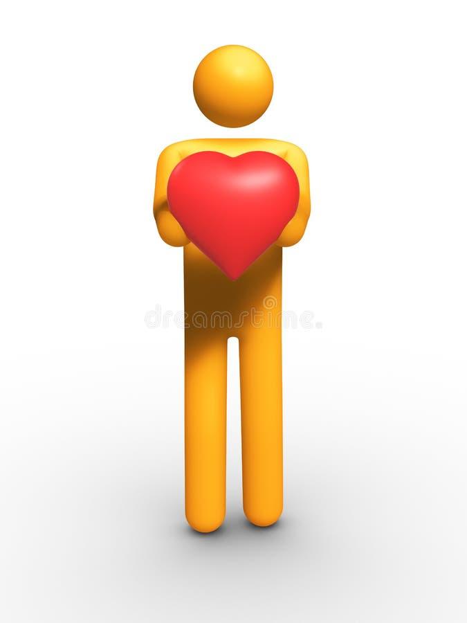 min hjärta royaltyfri illustrationer