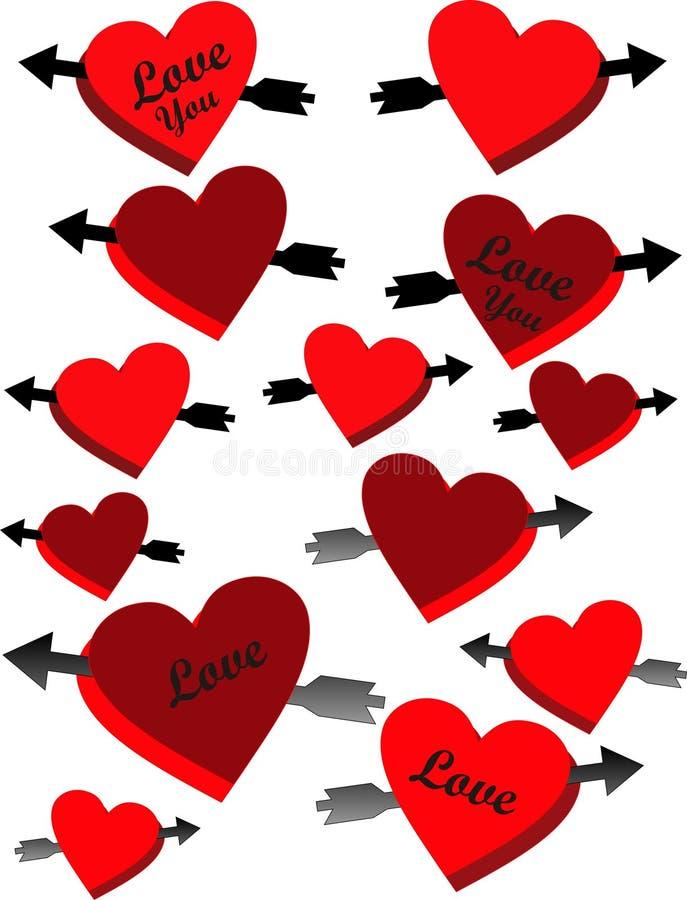 min hjärtaförälskelse vektor illustrationer