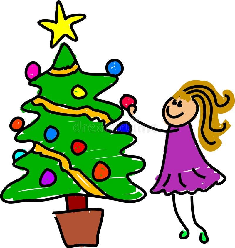 min jul vektor illustrationer