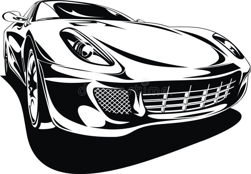 Min original- design för sportbil stock illustrationer
