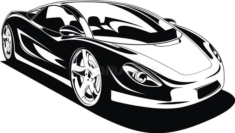 Min original- design för sportbil royaltyfri illustrationer