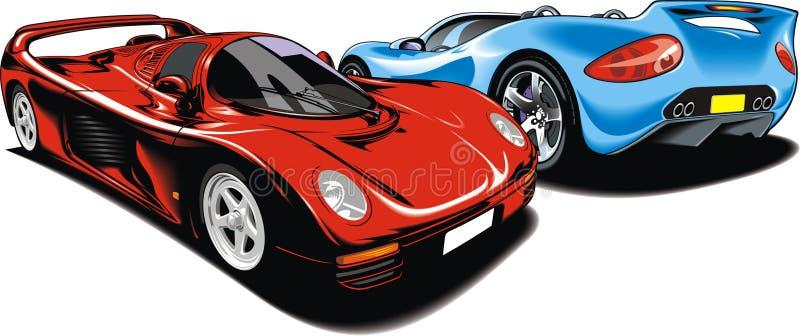 Min original- design för sportbilar royaltyfri illustrationer