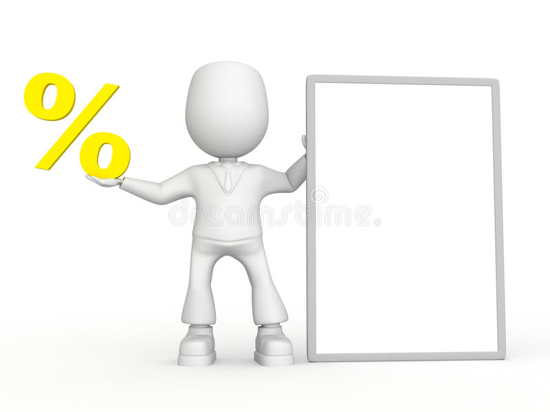 min procentvärdering stock illustrationer